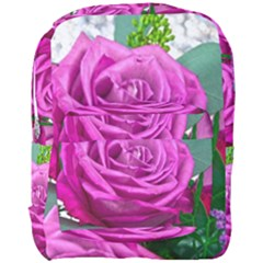 Rose Pink Purple Flower Bouquet Full Print Backpack