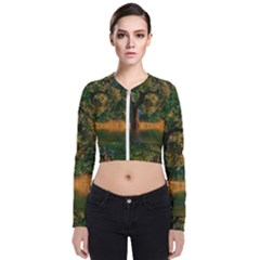 Nature Tree Sunset Giraffe Animal Long Sleeve Zip Up Bomber Jacket