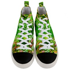 Ranunculus Blossom Bloom Nature Men s Mid Top Canvas Sneakers