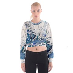 Paint Acrylic Paint Art Colorful Cropped Sweatshirt