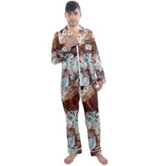 Paint Acrylic Paint Art Colorful Men s Satin Pajamas Long Pants Set