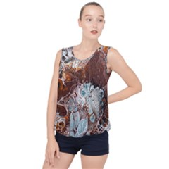 Paint Acrylic Paint Art Colorful Bubble Hem Chiffon Tank Top