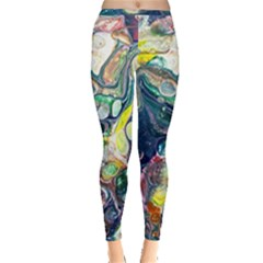 Paint Acrylic Paint Art Colorful Inside Out Leggings