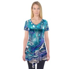 Paint Acrylic Paint Art Colorful Short Sleeve Tunic