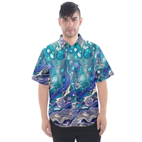 Paint Acrylic Paint Art Colorful Men s Short Sleeve Shirt by Pakrebo