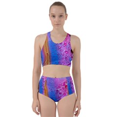 Art Abstract Background Color Racer Back Bikini Set