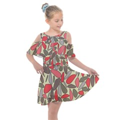 Zappwaits Beautiful Kids  Shoulder Cutout Chiffon Dress