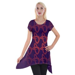 Zappwaits Design Short Sleeve Side Drop Tunic
