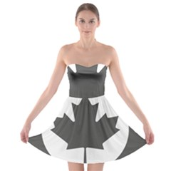 Roundel Of Canadian Air Force - Low Visibility Strapless Bra Top Dress