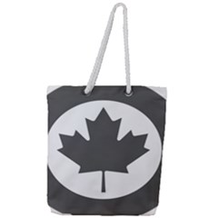 Roundel Of Canadian Air Force - Low Visibility Full Print Rope Handle Tote (large)