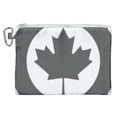 Roundel Of Canadian Air Force - Low Visibility Canvas Cosmetic Bag (xl)
