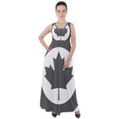 Roundel Of Canadian Air Force - Low Visibility Empire Waist Velour Maxi Dress by abbeyz71