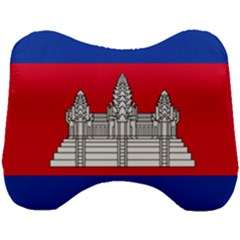 National Flag Of Cambodia Head Support Cushion by abbeyz71