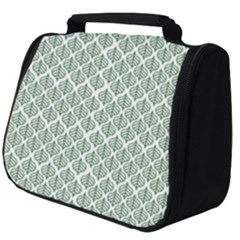 Green Leaf Pattern Full Print Travel Pouch (big)
