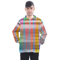Abstract Color Men s Half Zip Pullover