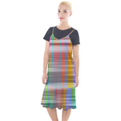 Abstract Color Camis Fishtail Dress