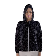 Autumn Leaves Black Women s Hooded Windbreaker