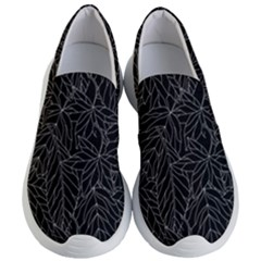 Autumn Leaves Black Women s Lightweight Slip Ons by Jojostore