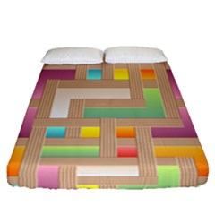 Abstract Background Colorful Fitted Sheet (queen Size)