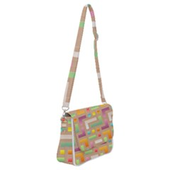 Abstract Background Colorful Shoulder Bag With Back Zipper by HermanTelo
