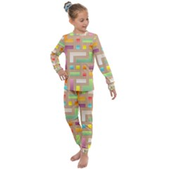 Abstract Background Colorful Kids  Long Sleeve Set