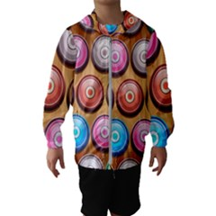 Background Colorful Abstract Brown Kids  Hooded Windbreaker