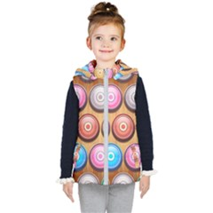 Background Colorful Abstract Brown Kids  Hooded Puffer Vest