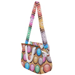 Background Colorful Abstract Brown Rope Handles Shoulder Strap Bag