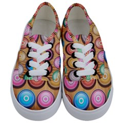 Background Colorful Abstract Brown Kids  Classic Low Top Sneakers