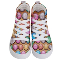 Background Colorful Abstract Brown Kids  Hi-top Skate Sneakers