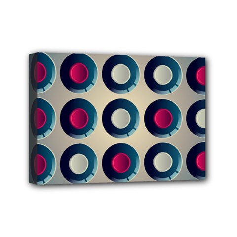 Background Colorful Abstract Mini Canvas 7  X 5  (stretched) by HermanTelo
