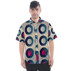 Background Colorful Abstract Men s Short Sleeve Shirt