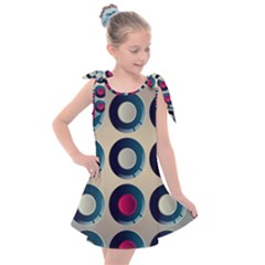 Background Colorful Abstract Kids  Tie Up Tunic Dress