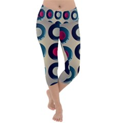 Background Colorful Abstract Lightweight Velour Capri Yoga Leggings by HermanTelo