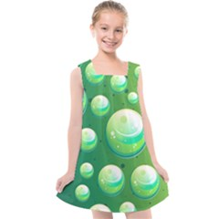 Background Colorful Abstract Circle Kids  Cross Back Dress by HermanTelo