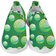 Background Colorful Abstract Circle Kids  Slip On Sneakers
