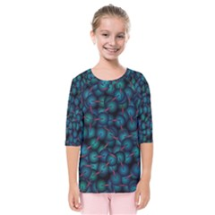 Background Abstract Textile Design Kids  Quarter Sleeve Raglan Tee