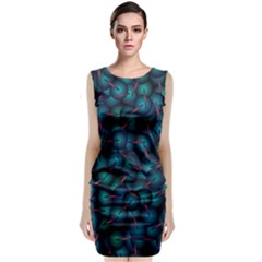 Background Abstract Textile Design Sleeveless Velvet Midi Dress