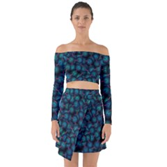 Background Abstract Textile Design Off Shoulder Top With Skirt Set