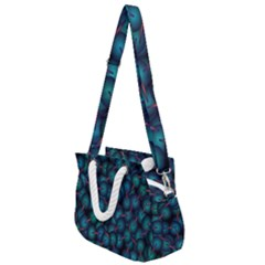 Background Abstract Textile Design Rope Handles Shoulder Strap Bag