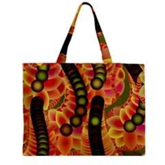 Abstract Background Digital Green Zipper Medium Tote Bag by HermanTelo