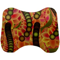 Abstract Background Digital Green Head Support Cushion