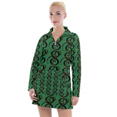Abstract Pattern Graphic Lines Women s Long Sleeve Casual Dress