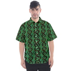 Abstract Pattern Graphic Lines Men s Short Sleeve Shirt
