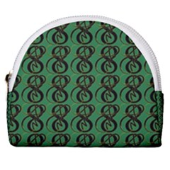 Abstract Pattern Graphic Lines Horseshoe Style Canvas Pouch by HermanTelo