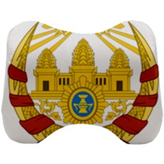 Coat Of Arms Of Khmer Republic, 1970-1975 Head Support Cushion by abbeyz71
