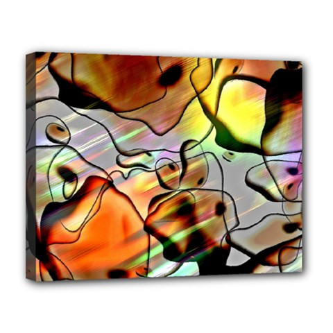 Abstract Transparent Drawing Canvas 14  X 11  (stretched) by HermanTelo