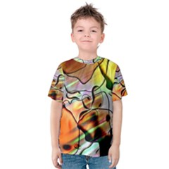 Abstract Transparent Drawing Kids  Cotton Tee