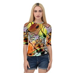 Abstract Transparent Drawing Quarter Sleeve Raglan Tee by HermanTelo