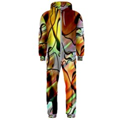 Abstract Transparent Drawing Hooded Jumpsuit (men)  by HermanTelo